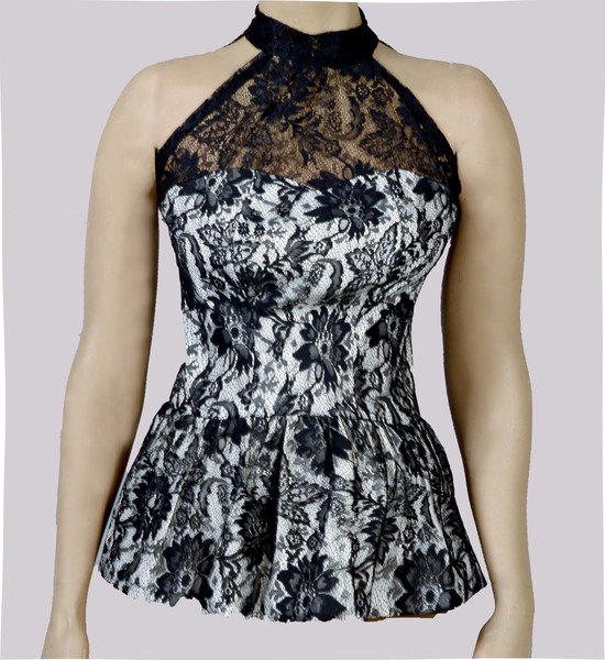 Frilly Lace Peplum Top